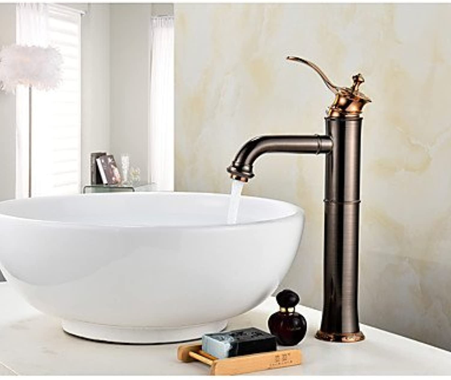 FF Contemporary Antique Centerset Widespread with Ceramic Valve Single Handle One Hole for Oil-rubbed Bronze , Bathroom Sink Faucet