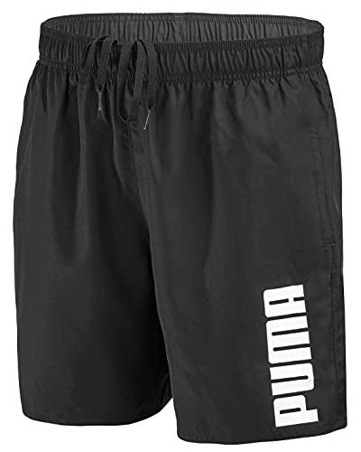 PUMA Herren Badehose Badeshorts Summer Deluxe Swim Shorts - New Black - Gr. M