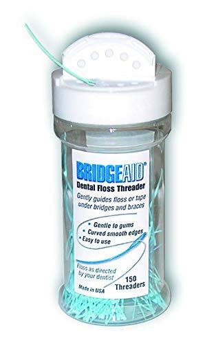 threaders for dental flosses BridgeAid Dental Floss Threader Bottle 150, 1 Bottle