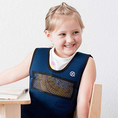 Weighted Compression Vest for Children (Ages 5 to 9) by Harkla – Helps with Autism, ADHD, Mood, Sensory Overload – Weighted Vest for Kids with Sensory Issues