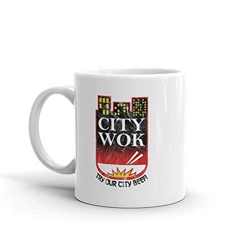 N\A Taza Logotipo de City Wok Inspirado en South Park
