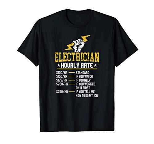 electricista por hora tasa de trabajo eléctrica Unión Tasa Camiseta