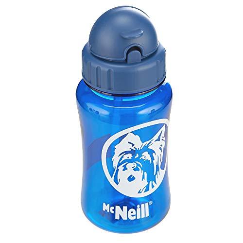 McNeill 3369800012 Trink Flasche Blau mit Feld für namen und Strohhalm ca 0,33 inhalt