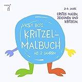Kritzel-Malbuch ab 2 Jahre: Erstes Malen, Zeichnen und Kritzeln - Vicky Bos Malbücher für Kinder