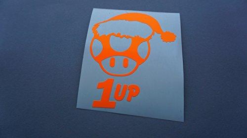 1up NEON Orange Tuning Aufkleber Decal Stickerbomb JDM style sticker DUB dapper