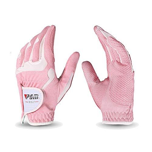 Womens Golf Handschoen Een Paar Linker Hand Rechts Hand, Verbeterde Grip System, Hete Nat Weer Zweetabsorberende (4 Kleur opties),C,#21