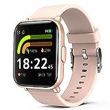 Smartwatch Donna, Orologio Fitness 5ATM Impermeabile Con GPS Condivisione Pedometro, Marcia, Cardiofrequenzimetro Sveglia 18 Modalità Sport, Orologio Fitness Tracker Di Attività Per Android iOS