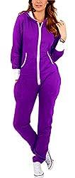Women's Ladies Onesie Hoodie Jumpsuit Playsuit X-Large Purple