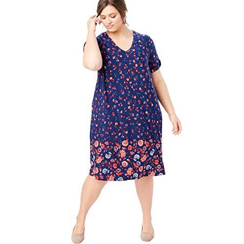 Woman Within Women's Plus Size Twist-Sleeve Dress