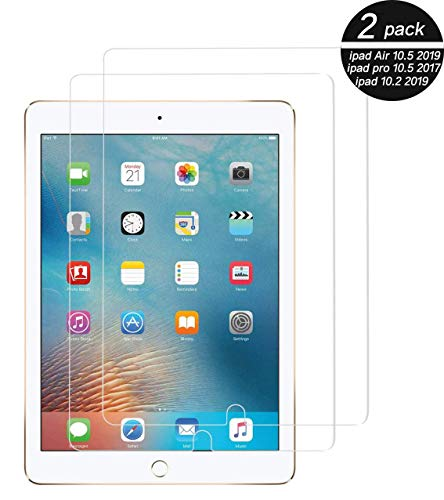 TECHKUN Schutzfolie für iPad 10.2 2019 (7. Generation)/iPad Air 3/iPad Pro 10.5,Displayschutzfolie für iPad 10,2 / 10,5