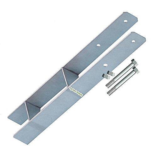 Betonanker, H-Anker 91 mm mit Schrauben für 9x9 cm Pfosten