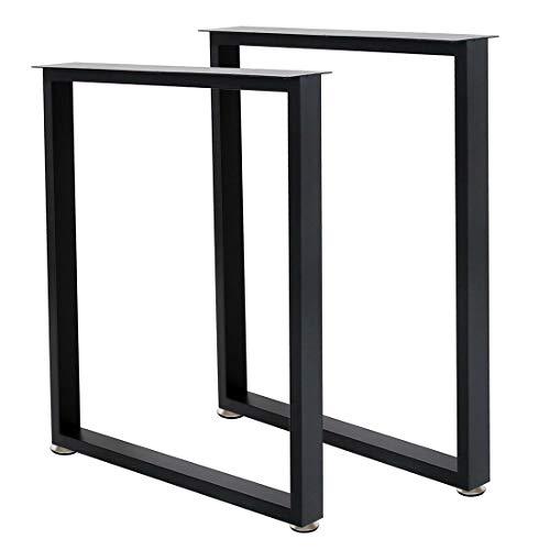 Metal Table Leg Desk Legs 28''Height 24''Wide Furniture Legs Table Legs,Metal Legs for Desk,Dinning Table Legs,DIY Iron Legs(2Pcs)