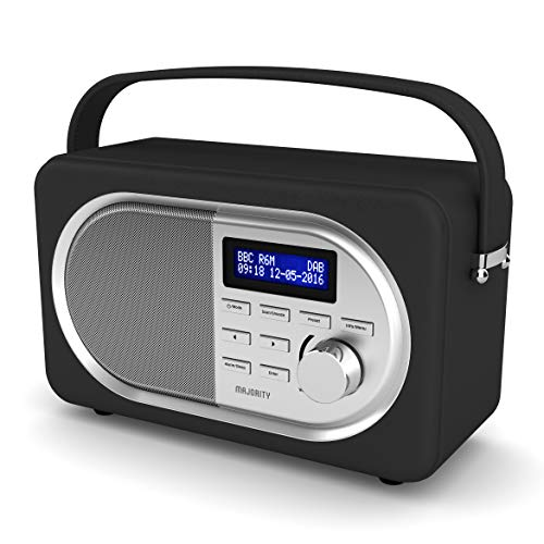 MAJORITY Shelford II Retro Tragbare Bluetooth Radio - Digital-Radio DAB/DAB+/UKW - Batterie und...