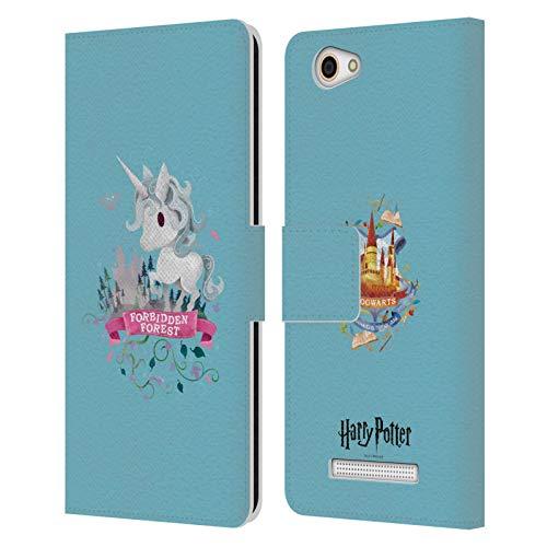 Head Hülle Designs Offizielle Harry Potter Einhorn Deathly Hallows II Leder Brieftaschen Handyhülle Hülle Huelle kompatibel mit Wileyfox Spark X