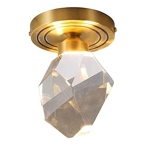 Vicino alla lampada da soffitto Apparecchi di illuminazione a soffitto a LED Illuminazione Lampadario moderno Apparecchio a sfera di cristallo Lampada da soffitto a sospensione, plafoniere per corrido