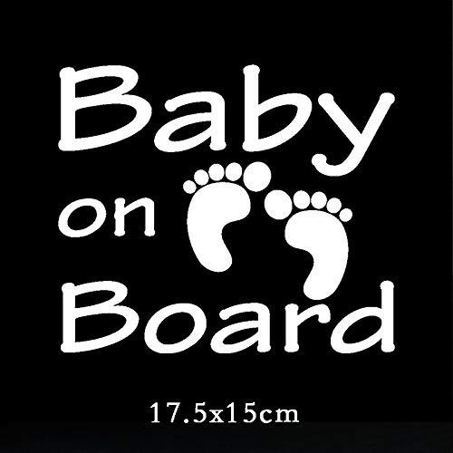 RSZHHL Pegatina de coche TZ-1913# 14.3x23cm bebé a bordo coche calcomanía divertido coche pegatinas estilo extraíble calcomanía