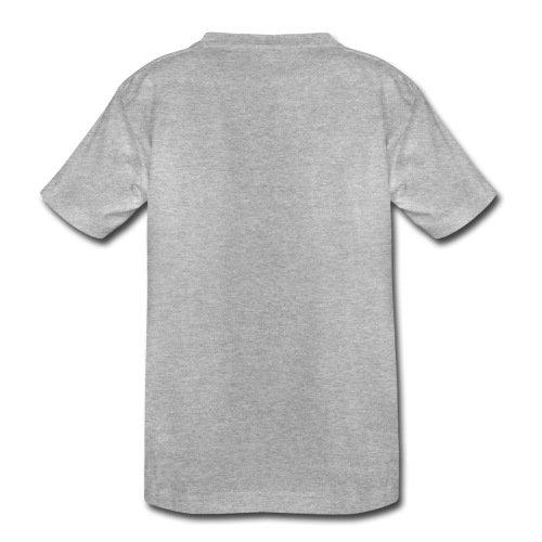 Spreadshirt Fuchs auf Fahrrad Cycling Fox Kinder Premium T-Shirt, 98/104 (2 Jahre), Grau Meliert - 3