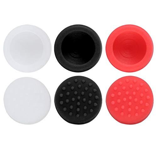 DyAn Funda con Botón De Silicona 6 En 1, Funda para Pulgar, Tapas Basculantes para Nintendo Switch Poker Ball B + R + W