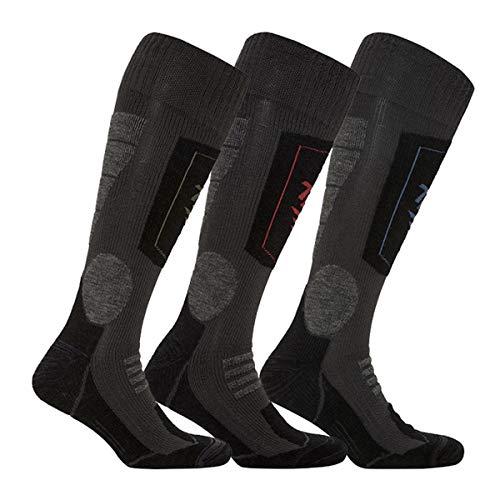 THERMOFORM Ultimate - Calze unisex con Thermolite, lana merino e superwash per condizioni estreme, set da 3, solo per uomo e donna antracite. 35-38
