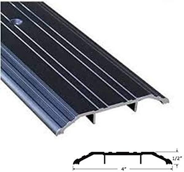 CBW Black Aluminum Threshold 4 Wide 1 2 High 48 Inch