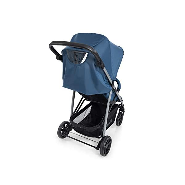 Hauck Rapid 4, 0 Months to 22 kg, Foldable, Compact, with one Hand, with Sleep Position, Height Adjustable Handle, Large Basket - denim/grey, Rapid 4, Up to 25 Kg Hauck Easy folding this pushchair is as easy to fold away as possible - the comfort stroller can be folded with one hand only within seconds, leaving one hand always free for your little ray of sunshine Long use this buggy can be used for a very long time. it is suitable from birth (also compatible with 2in1 carrycot or comfort fix infant car seat) up to a maximum of 22kg Comfortable back friendly push handle adjustable in height, the hood extendable; suspension, swivelling front wheels, soft padding, and large shopping basket 13