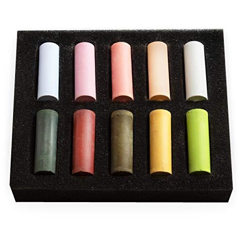 Royal Talens Rembrandt Lot de 10 pastels souples demi-format Couleurs assorties