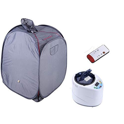 Mini sauna con cappa, sauna pieghevole, Svedana, sauna a vapore con generatore di vapore a comando elettoriale 2 litri 1000 watt e telecomando wireless