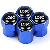 4 Piezas Tapas de Válvula de Neumático de Aluminio, para Kia Soul Optima Niro Sorento Carnival Tapas de Válvula de Coche Prueba de Polvo con Logo del Coche Accesorios Decoración