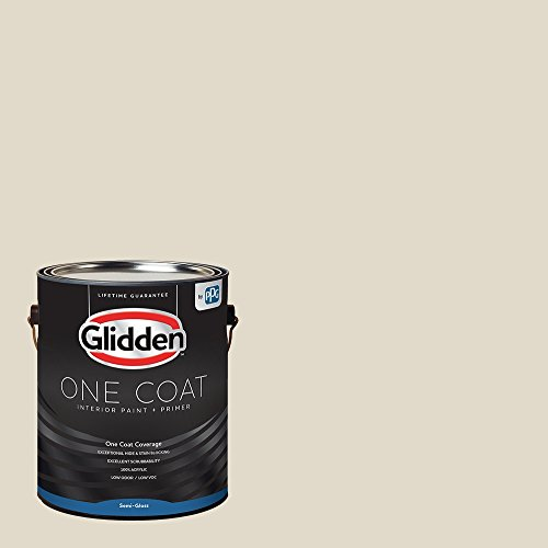 Glidden Interior Paint + Primer: Greige/Antique White, One Coat, Semi-Gloss, 1-Gallon Alabama