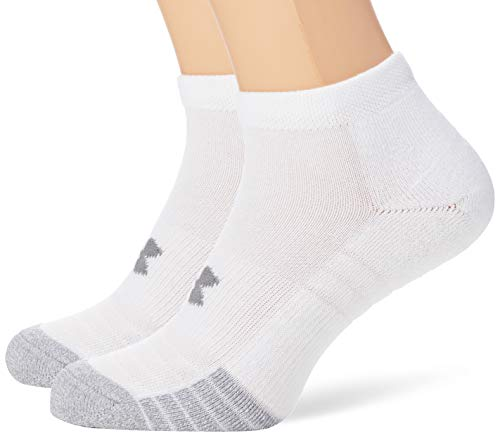 Under Armour Unisex UA Heatgear Locut atmungsaktive Sportsocken, Weiß, Medium,Weiß, Medium, 3er Pack