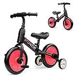Fascol Draisienne 3 en 1, Tricycle pour l'équilibre d'apprentissage, Vélo sans Pédale avec Selle Réglable en Hauteur, Convient aux Enfants de 1 à 6 Ans (Rose)