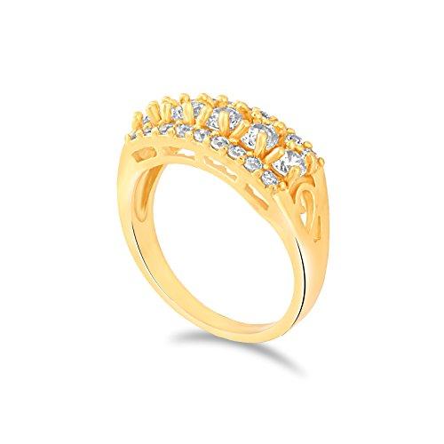 Fasherati placcato in oro rosa cristallo anelli per bambina