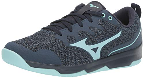 Mizuno Women's TC-02 Cross Training Shoe, Cross Training Sneakers for all forms of Exercise, Navy-Light Blue, 8 B US
