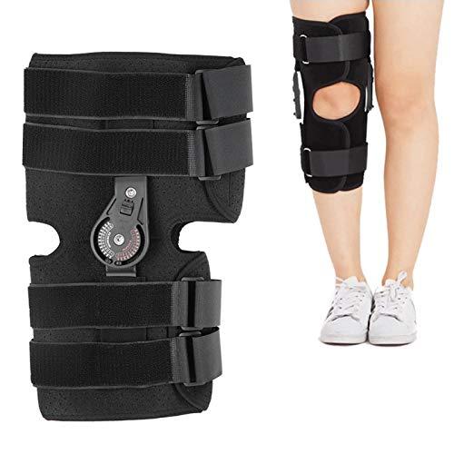 Soporte de rodilla, ortesis de rodilla de compresión, soporte de rodilla postoperatorio para estabilización de recuperación, mangas de soporte de rodilla antideslizantes(L)