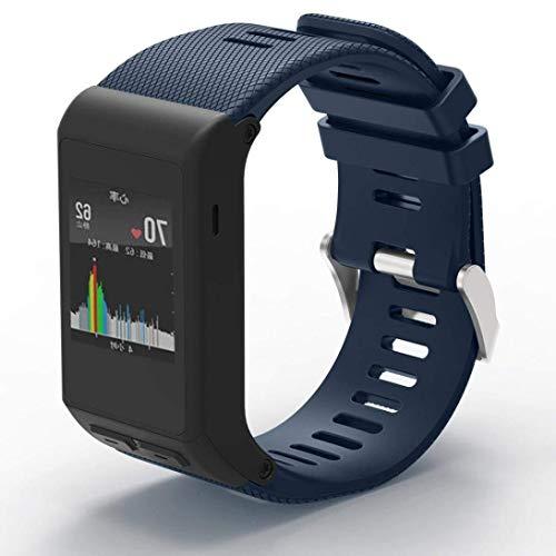 METEQI Cinturino Compatibile con Garmin Vivoactive HR, Cinturino di Ricambio in Silicone Morbido per Garmin Vivoactive HR Sports GPS Smart Watch (Blu Notte)