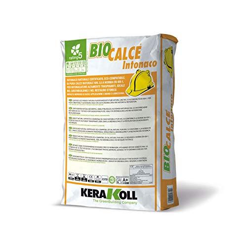 Biocalce Intonaco Kerakoll Intonaco naturale eco-compatibile per intonacature traspiranti 25 Kg