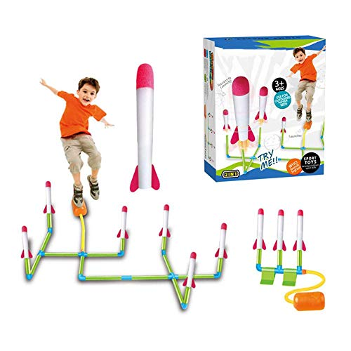 Druckluftrakete Set Raketenspiel Jump Stomp Rocket Foam Rockets Für Kinder