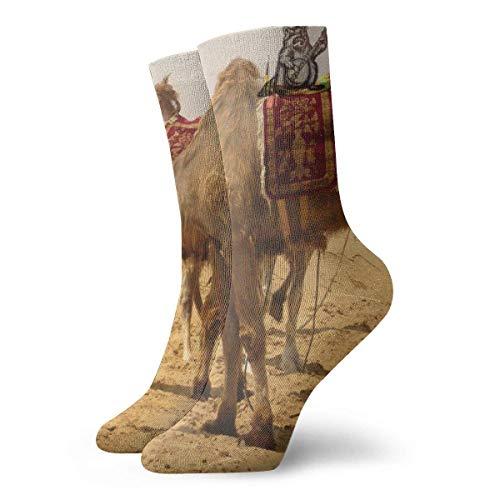 FlyingNeedleGallery Socks Calcetines Landschaft Sand Desert Camel Creative Socks Calcetines deportivos unisex para correr Fitness Travel Work Calcetines deportivos