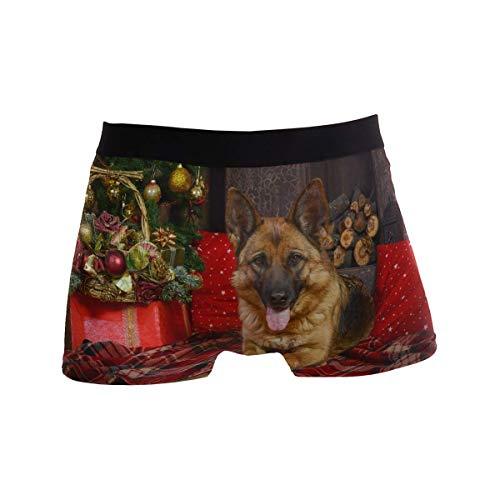 Fitted Boxer Bóxer Perro Pastor alemán Suave para Navidad Boxer Calzoncillos para Hombre,6,XL