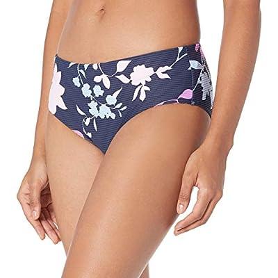 Seafolly Women's Standard Banded Wide Side Retro Bikini Bottom Swimsuit, Florence Indigo, 4 US