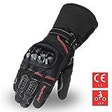 MaxTronic Motorrad Handschuhe Warme Motorradhandschuhe Winter Touchscreen Sport Handschuhe Wasserdicht