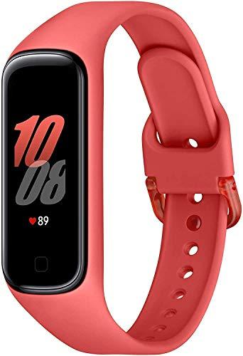 Samsung Galaxy Fit2 Rosso con Accelerometro, Giroscopio, Monitoraggio Frequenza cardiaca, Tracker allenamento, Display 1.1