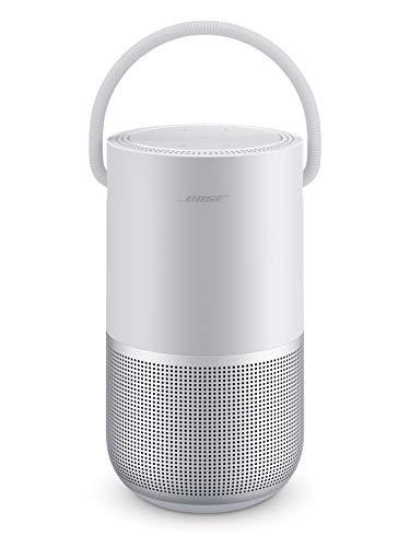 Bose - Altoparlante intelligente portatile con controllo vocale Alexa integrato, argento