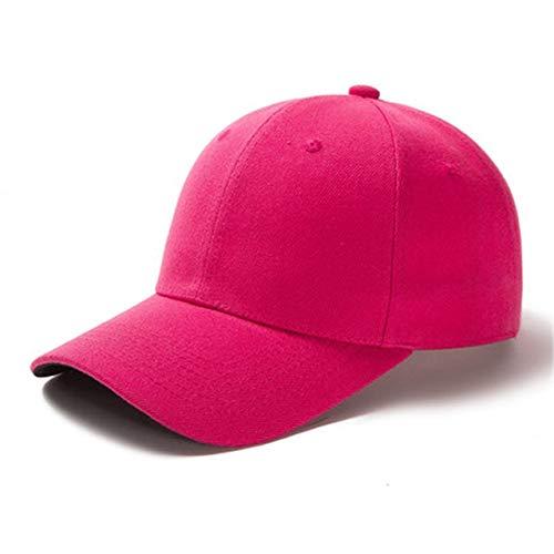 1 Uds, Gorra Unisex Informal, Gorra de béisbol de Malla Lisa, Sombreros Ajustables para Mujeres, Hombres, Gorra de Camionero de Hip Hop, Gorra de papá-Rose Red-54cm-60cm