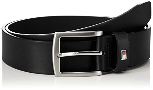 Tommy Hilfiger New Denton 3.5 Belt, Cintura Uomo, Nero, 110 cm
