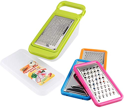 Kitchen Good Grips Complete Grater & Slicer Set 4 in 1 Onion Chopper, Vegetable Slicer, Fruit and Cheese Cutter Container With Storage Lid (Green)