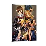 QINGF Duel Monsters - Yugi Muto & Seto Kaiba-Anime 4K HD Poster Dekorative Malerei Leinwand Wandkunst Wohnzimmer Poster Schlafzimmer Gemälde 50 x 75 cm