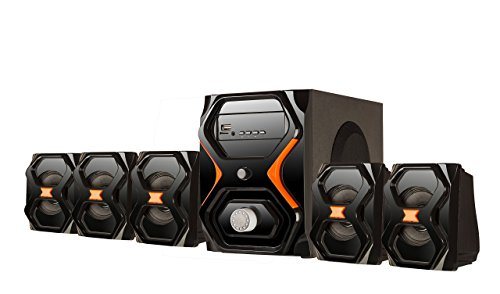 Flow Strom 5.1 Multimedia Home Theatre Speaker System Exclusive Looks- Bluetooth Enabled...