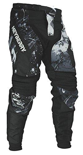 HEYBERRY Motocross Enduro Quad Hose schwarz weiß Gr. M