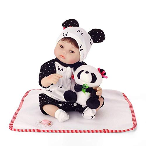 Muñecas Reborn, 40 cm de Silicona Rebirth Baby Girl Doll Toy Play House Toy Child Vinyl Simulación Newborn Girl Baby Doll